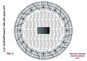 Maximum event seating for Free Size Stadium